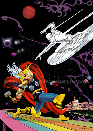 Thor vs The Silver Surfer