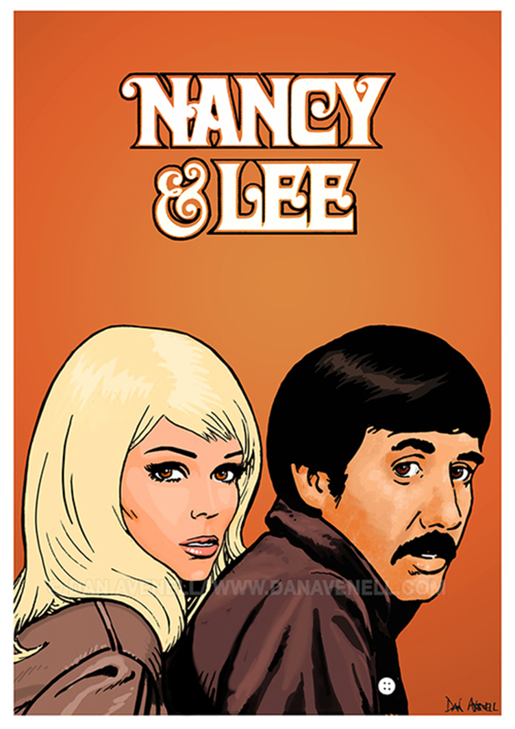 Nancy Sinatra and Lee Hazlewood by Dan Avenell