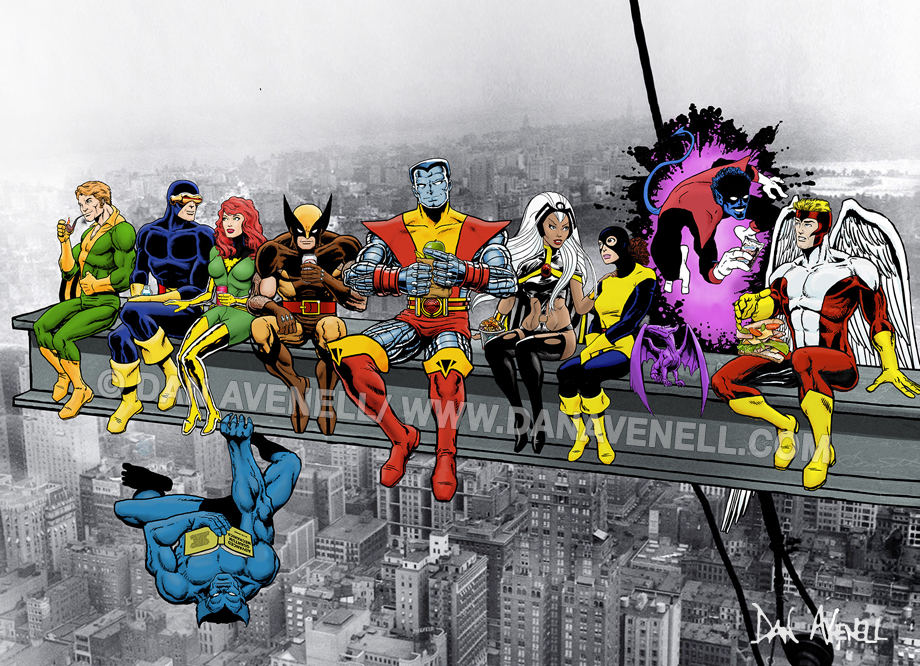 Marvel: X-Men Lunch Atop A Skyscraper