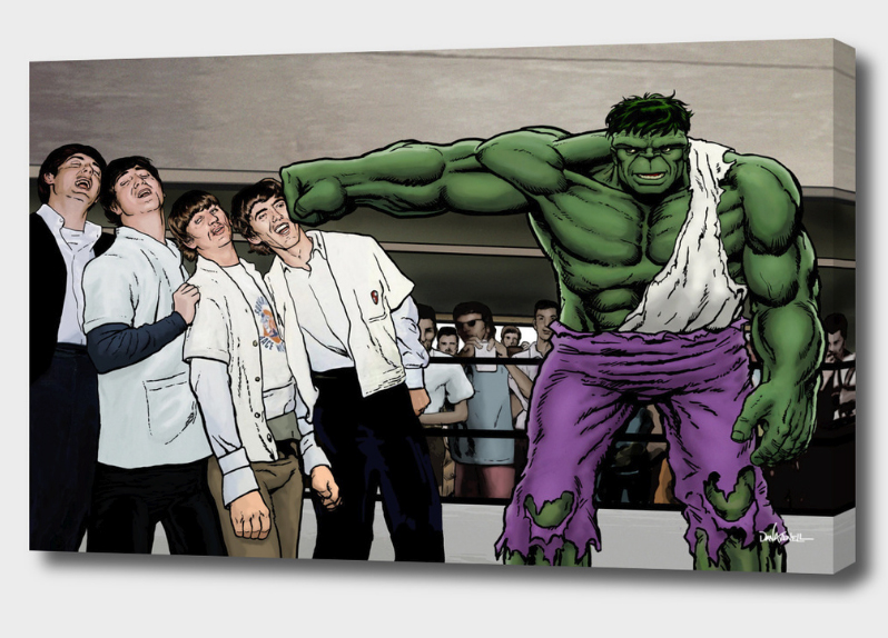 It's A Knockout - Hulk Smash Beatles Mounted Canvas