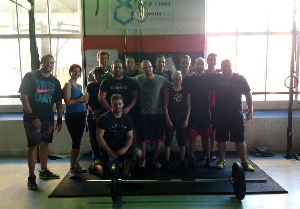 The gang after our Grand Opening WOD