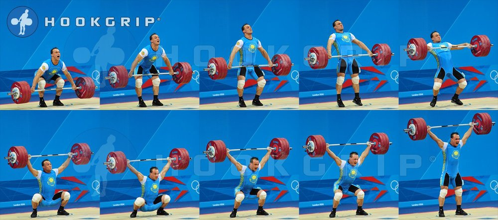 Ilya Ilin snatching 185 kg at the 2012 Olympics