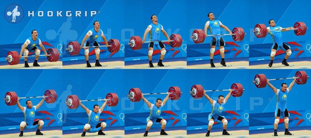 Ilya Ilin snatching 185 kg at the 2012 Olympics