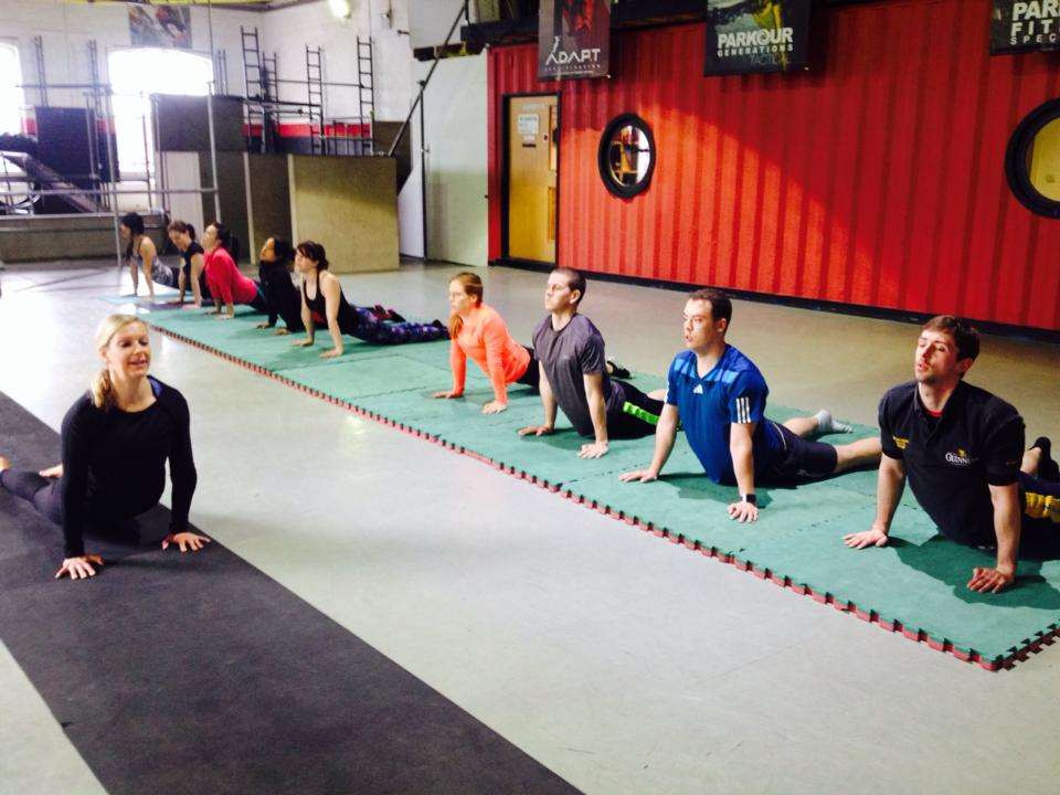A great yoga session on Sunday with Alex!