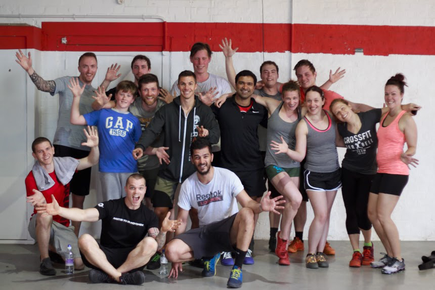 Some of our crew relaxing after Memorial Day Murph