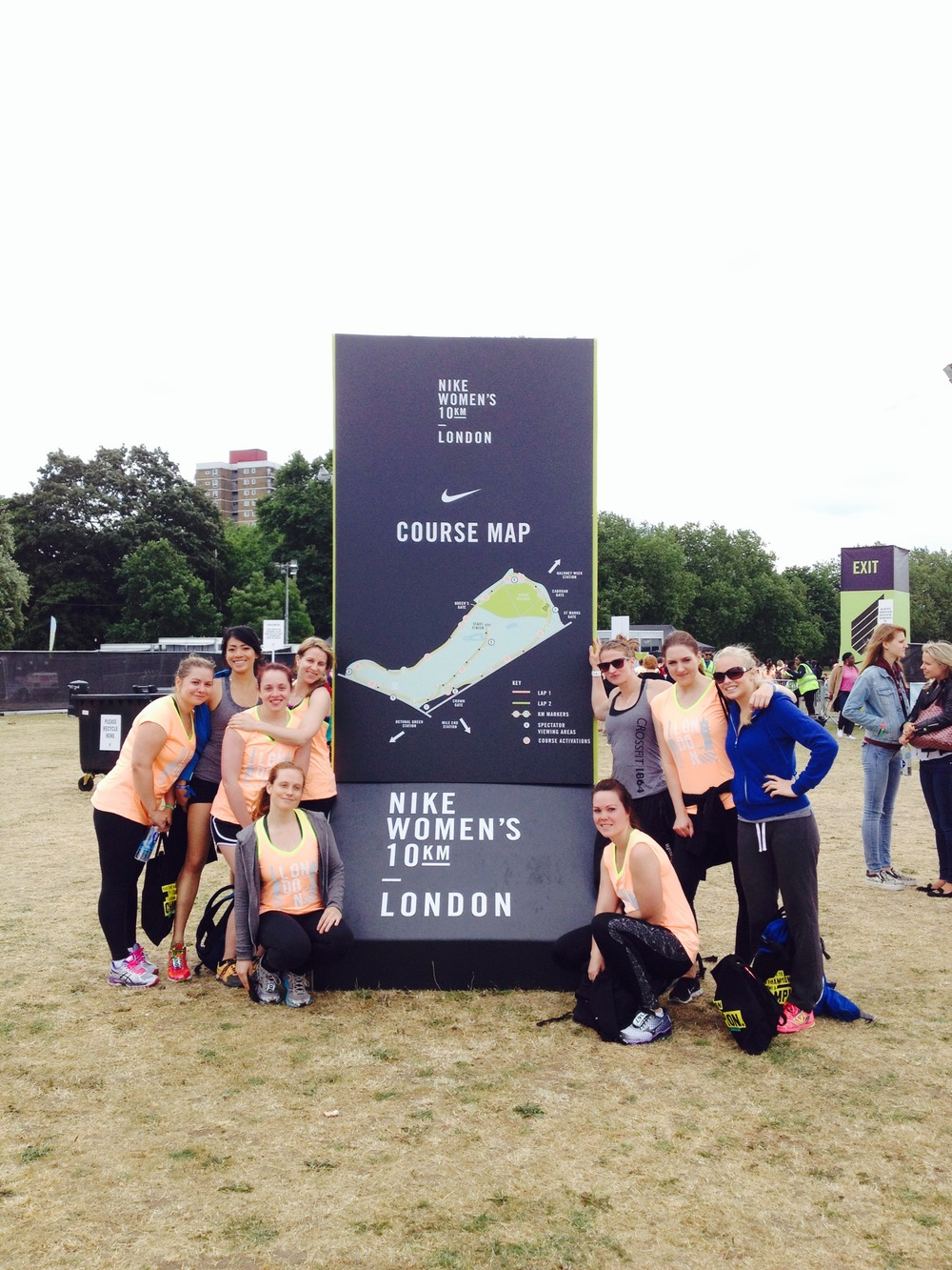 The crew after the Nike Women's 10k