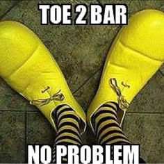Get your toes to bar shoes on...