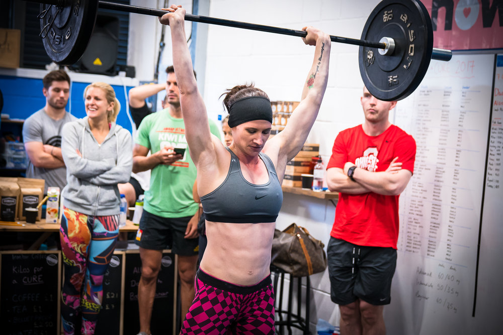 Repping out some clean & jerk for Kilos for a Cure at 13 weeks