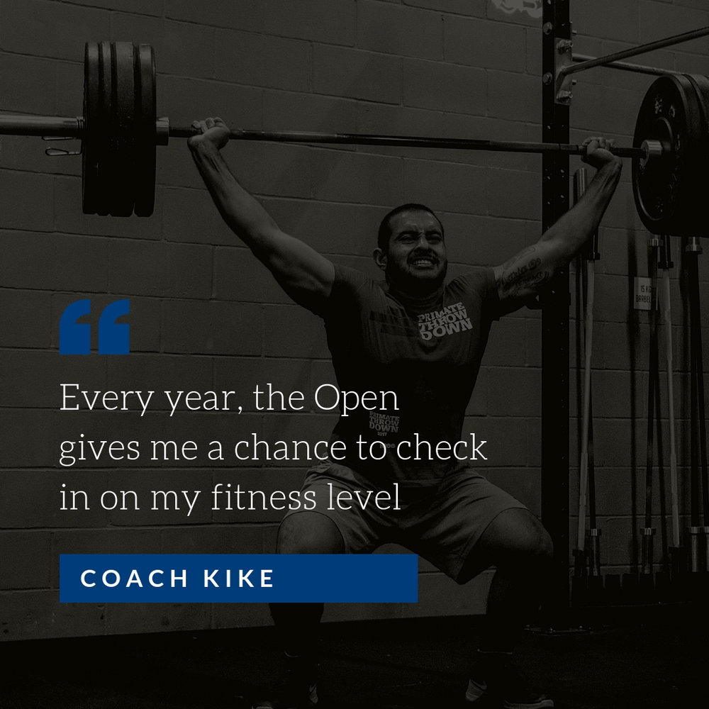 Kike is in the Open, are you?
