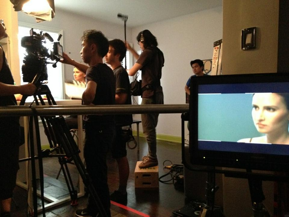 """On set for """"Laura Point"""""""