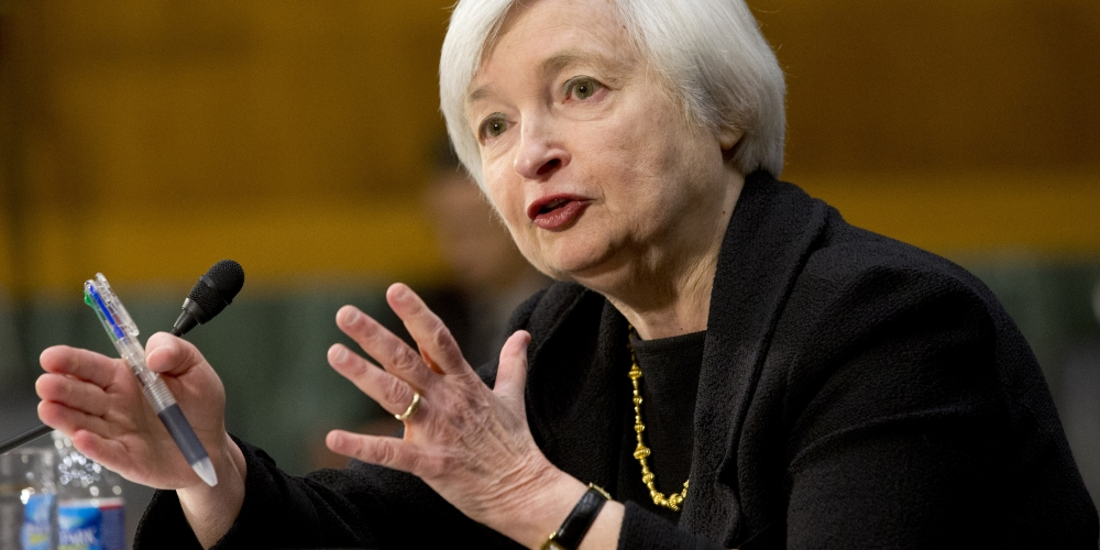 Above: Janet Yellen announcing yesterday, that there will be no US Interest rate hike