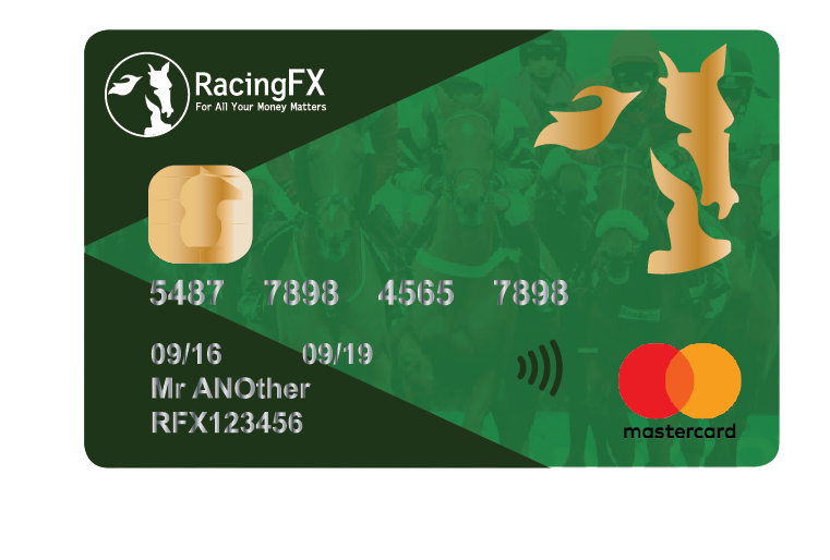 Welcome to thenew RacingFX Multi-Currency card. -