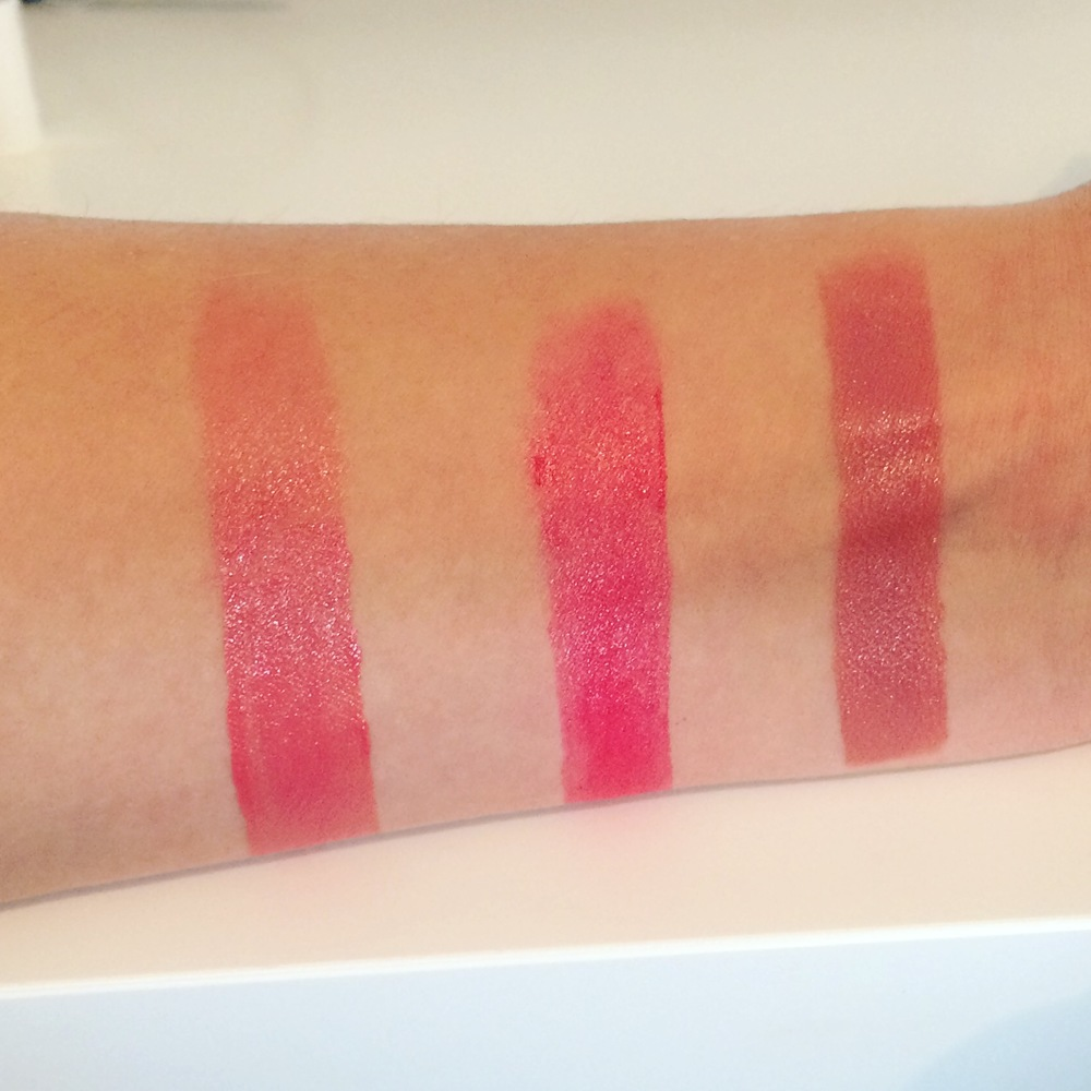 Lipstick left to right 'Blushing Bride' 'Love Story' 'I Do'