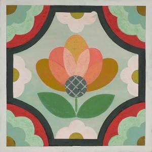 Mirth Studio's colorful Blossom 12x12 Hardwood Tile
