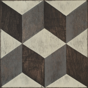 Mirth Studio Classic Tumbling Blocks Hardwood Tile
