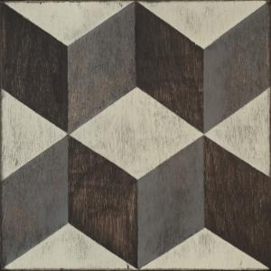 Mirth Studio Classic Tumbling Blocks Hardwood Tile