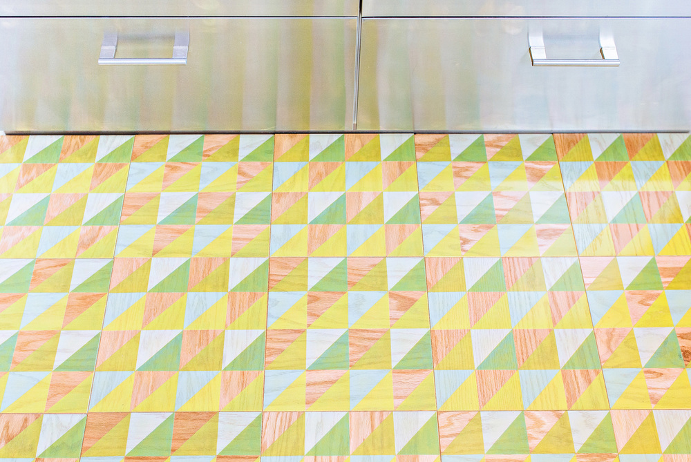 Our Fun Lively Celery Pattern in 12x12 Wood Tiles