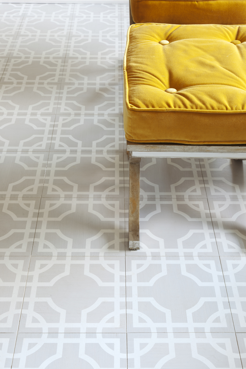 Our Grey and White Macau Pattern in 12x12 Wood Tiles