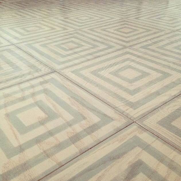 Our Concentric Pattern in 12x12 Wood Tiles