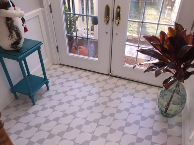 Our Centro Patterned Wood Tiles in Platinum and White