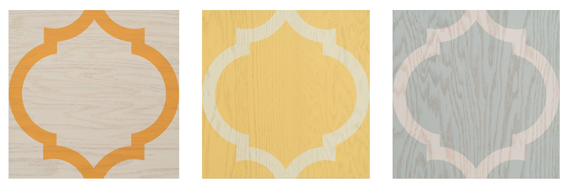 TG- Carlton – The classic lantern shape inspired by Moroccan design is simple yet elegant. This flooring will transform any room from dull to sensational in a snap. $15.25 - Priced at special offer for limited time only! 3 Color ways available - Orange and White - Light Honey and White -Light Mint and White