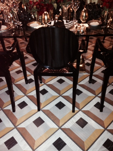 Our Antonino pattern in our 12x12 Hardwood Tiles