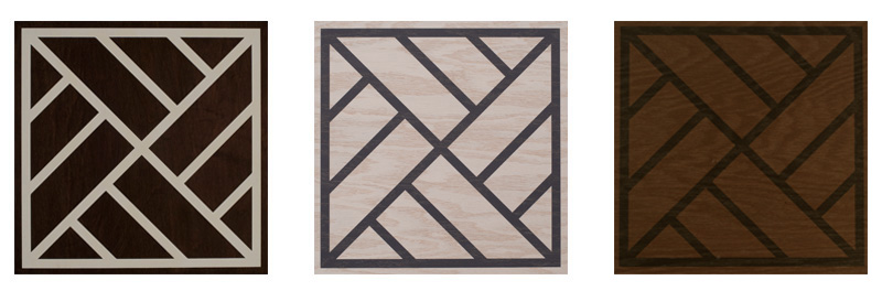 TG-Peninsula – A traditional Chinese design element has been used to create a dynamic pattern with a global sensibility. The mix of stained background and elaborate grid also make it an excellent choice for hiding dust and debris on floors. $18.25 3 color ways available- Toffee and Ebony - White and Navy - Ebony and Cream