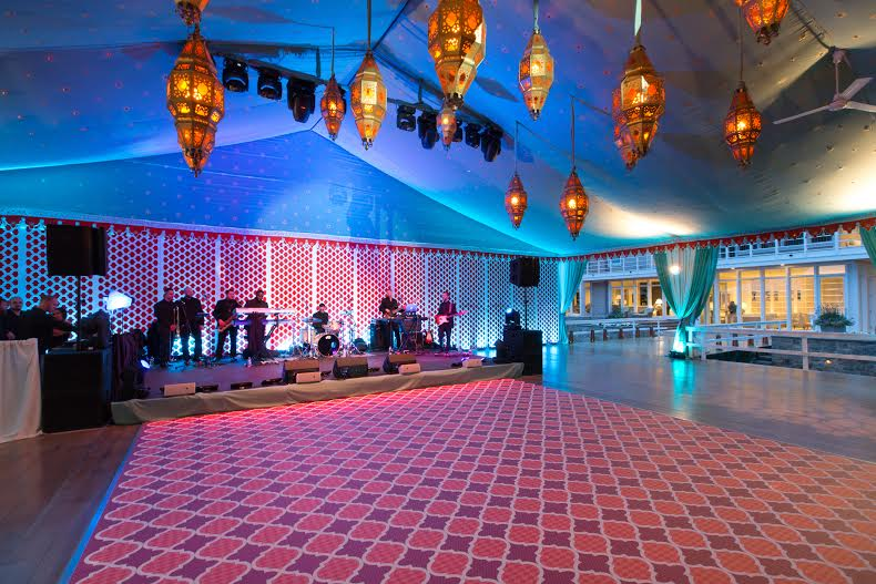Our Fez Pattern used as portable flooring for a Beautiful Wedding