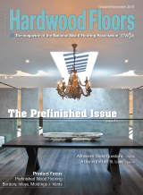 Mirth Studio's hardwood tiles that feature the look of hand painted floors featured in Hardwood Floors Magazine - The Prefinished Issue October/November 2015 #MirthStudio