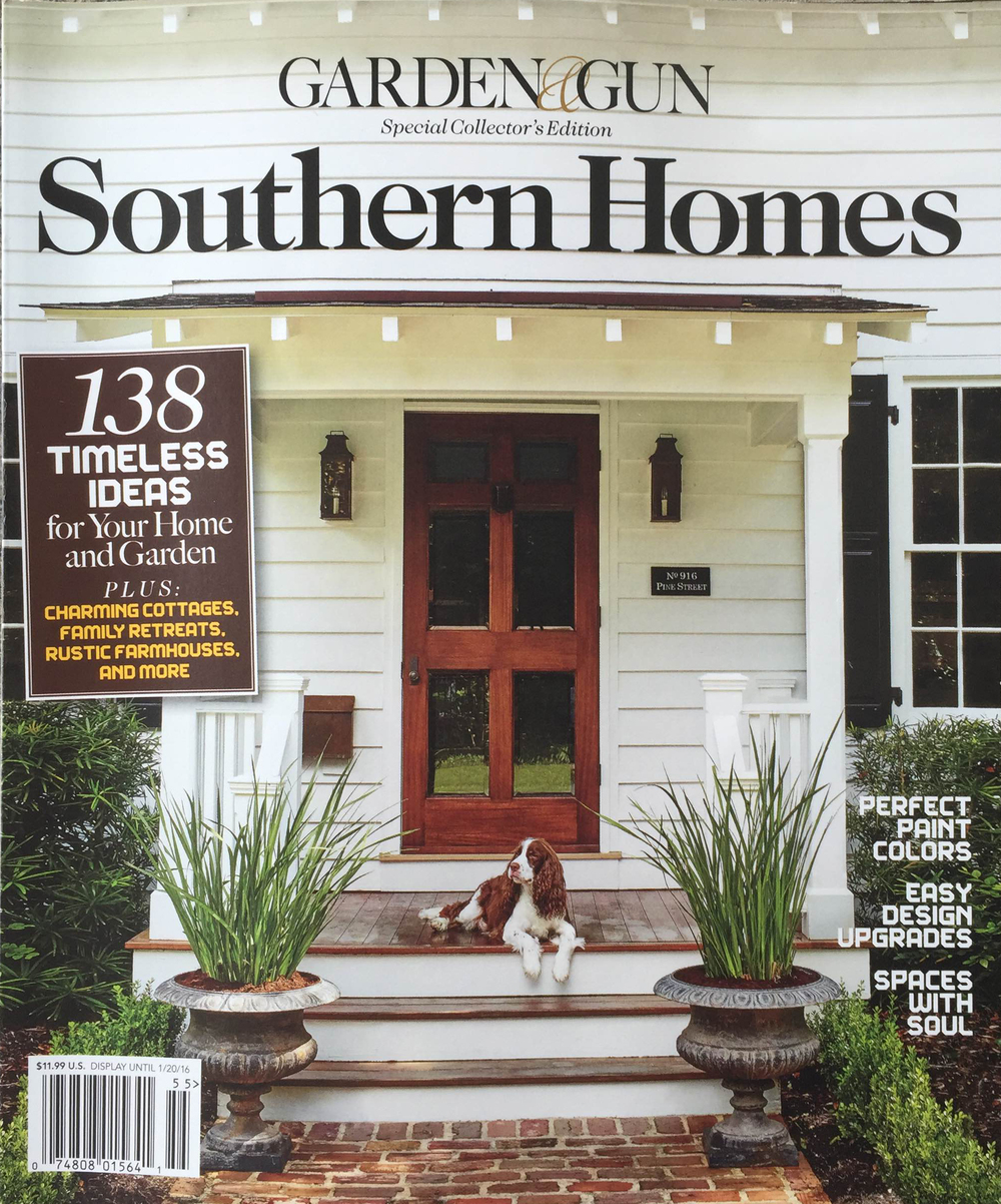 Patterned Wooden Tiles featured in GARDEN & GUN SPECIAL COLLECTOR'S EDITION SOUTHERN HOMES FALL 2015 #MirthStudio