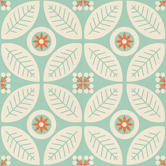 Peel and stick decorative floor decals mirth studio for Patterned linoleum tiles