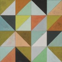 Colorful Hardwood floor tile in Flirt Pattern from Urban Geometrics Collection #MirthStudio #WoodTile