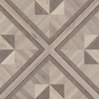 Grey Nobility patterned Hardwood floor tile with the look of custom inlaid parquet from our Heritage Parquet Collection #MirthStudio #WoodTile