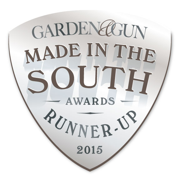Mirth Studio was awarded Runner up in Garden & Gun's Made in the South Awards 2015