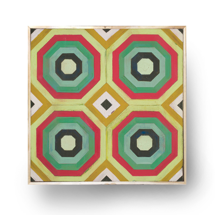 """Hex"" 12.5"" x 12.5"" x 1.5"" on wood/framed,   $75.00"