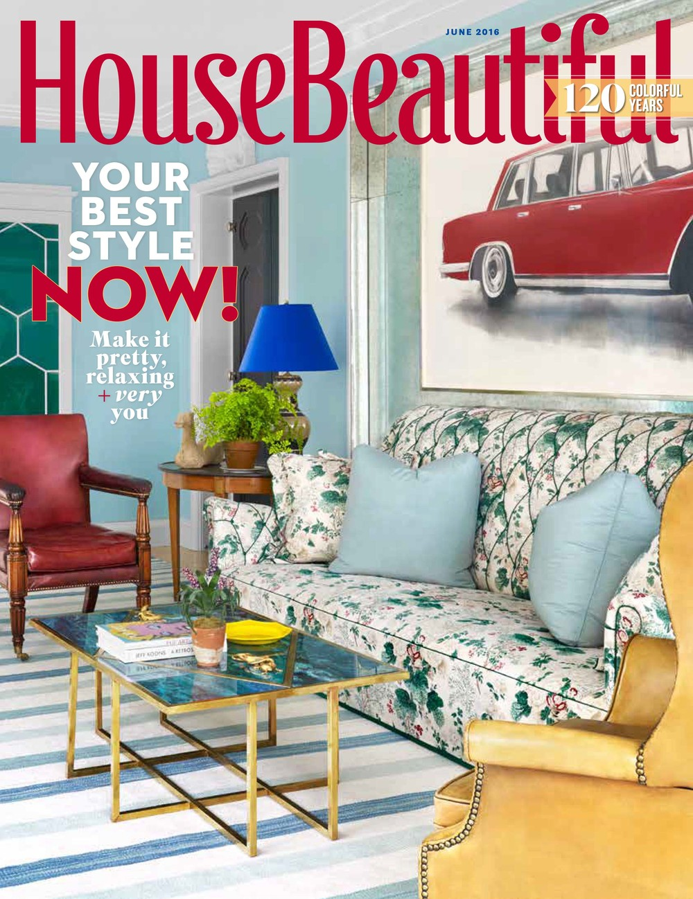 Colorful, Patterned Wooden tiles featured as Ryland Witt's favorite things in House Beautiful June 2016 #MirthStudio