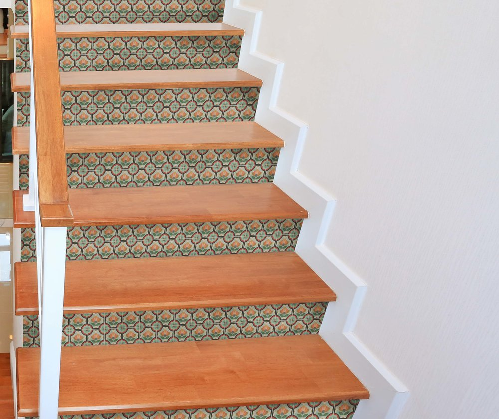 Charmant Blossom Stair Riser Decal