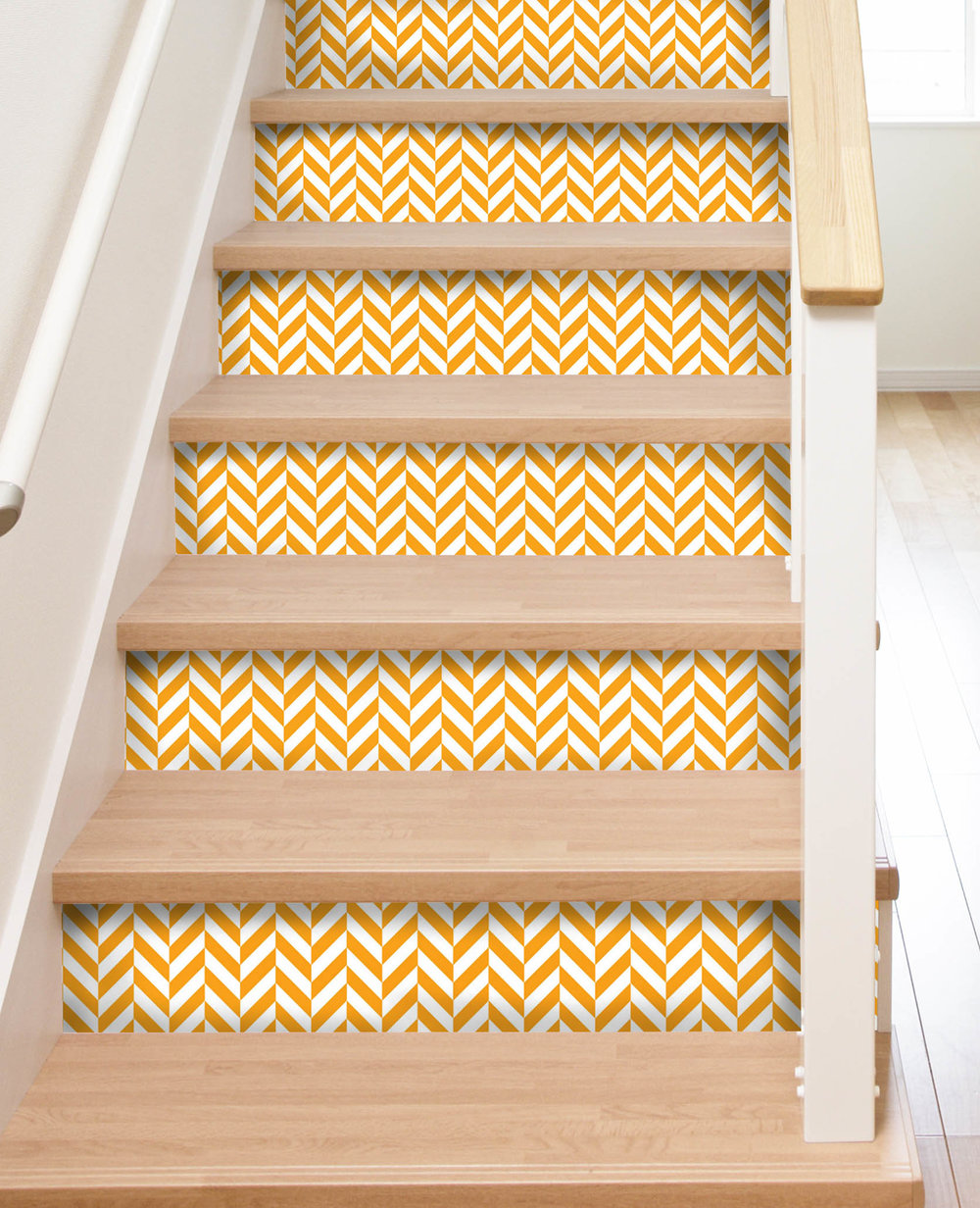 Peel and Stick Stair Riser Decals — Mirth Studio
