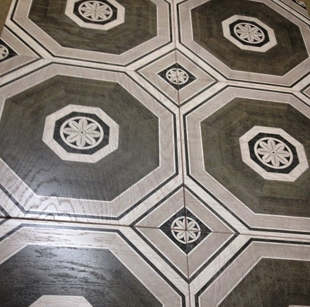 Stately Octagon in Grey from our Heritage Parquet collection