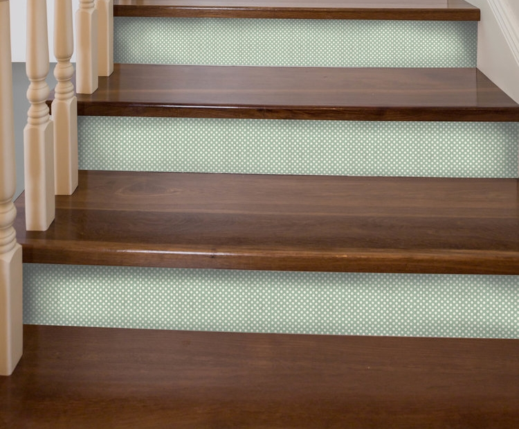 Polka Dot Seafoam Stair Riser Decal