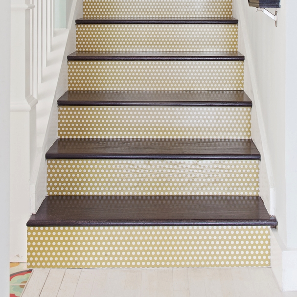 Navy And Blue Palm Beach Pattern In 12x12 Hardwood Tiles #MirthStudio