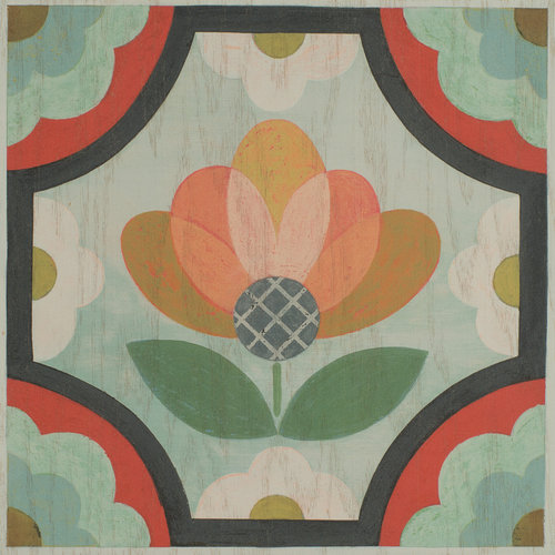 Blossom wood tile