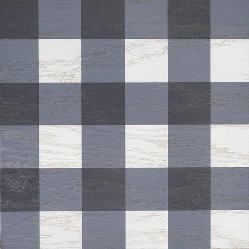 Blue Gingham wood tile