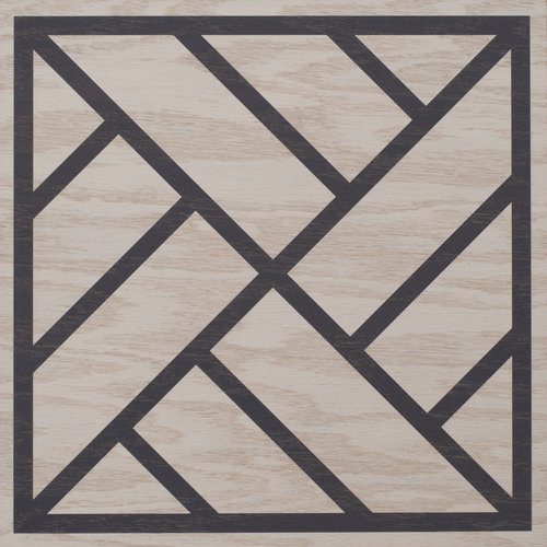 White and Navy Peninsula wood tile