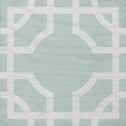 Mint and White Macau wood tile