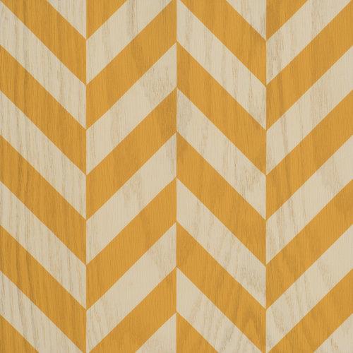 Orange and white Zippy wood tile