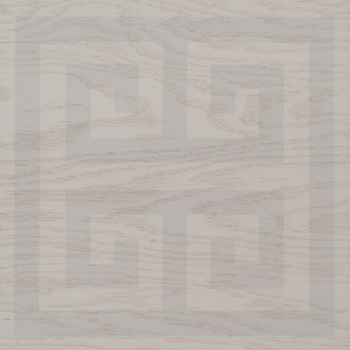 Platinum and Gray Greek Key wood tile #Mirthstudio