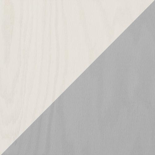 Platinum and white diagonal wood tile #mirthstudio
