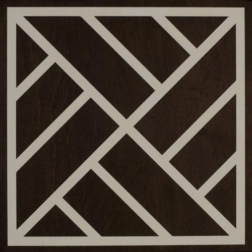 Peninsula (ebony and cream) wood tile #Mirthstudio