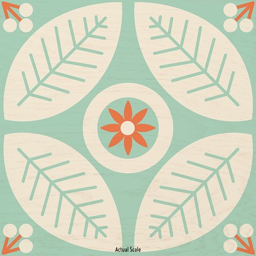 Flower Folk wood tile
